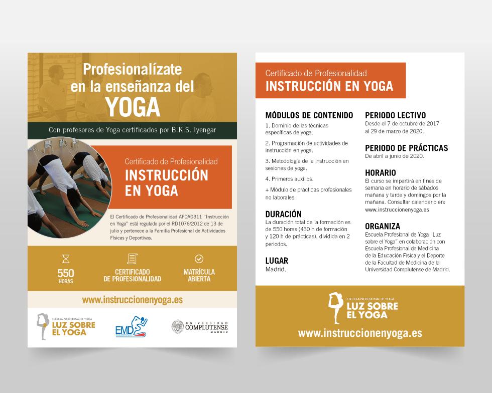 Folleto Instrucción en Yoga