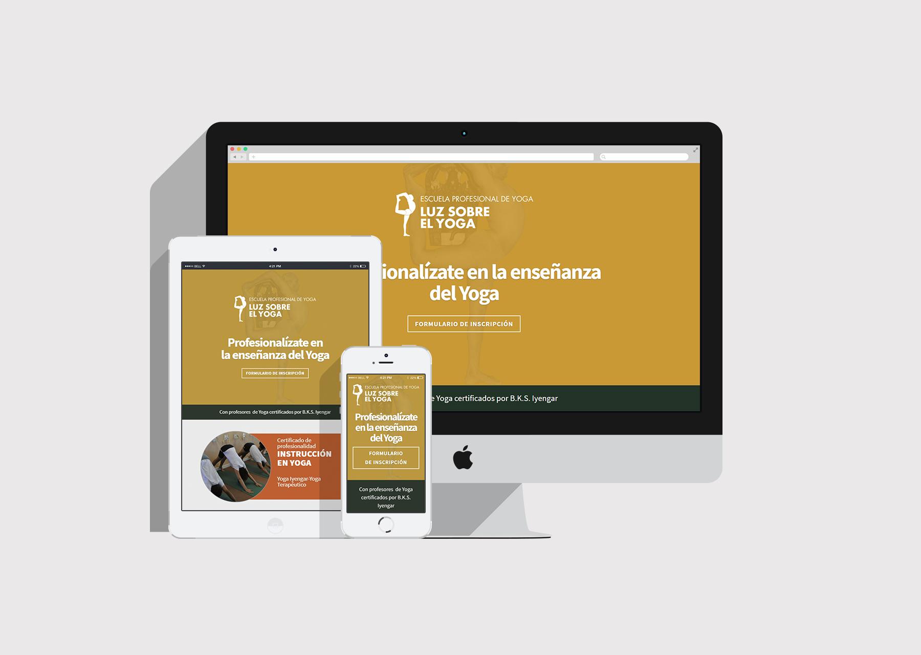 Diseño web Instrucción en Yoga