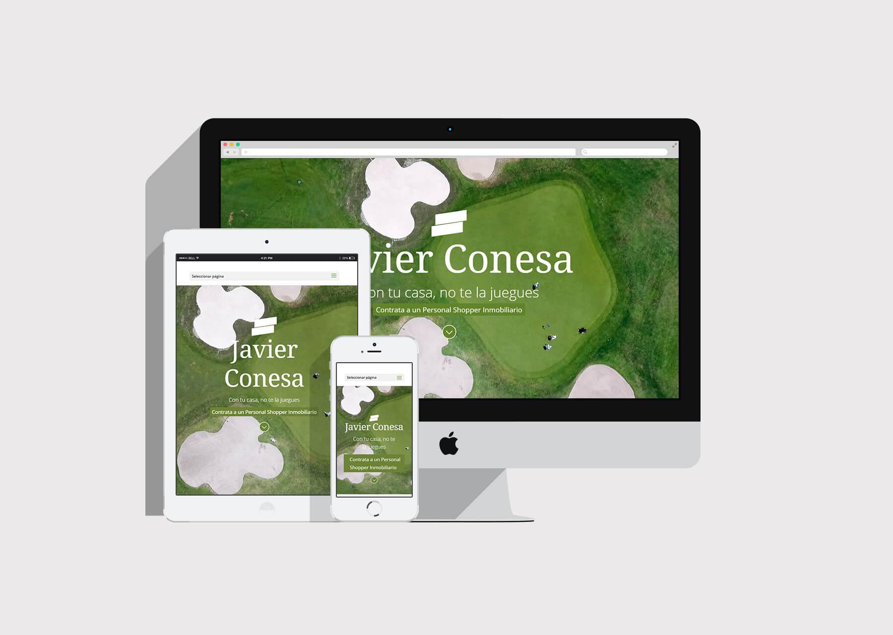 Mockup website Javier Conesa